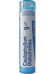 caulophyllym 9ch homeopatía para el parto