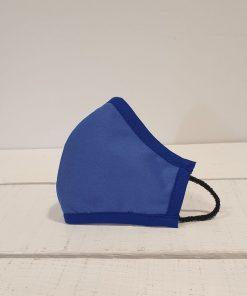 mascarilla azul escolar para niños
